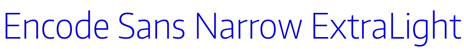 Encode Sans Narrow ExtraLight 字体
