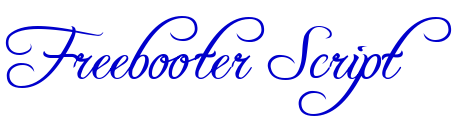 Freebooter Script 字体